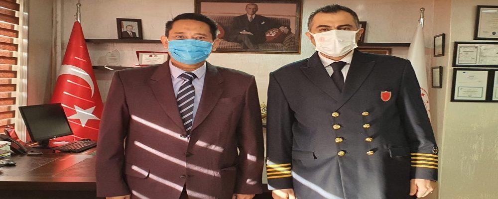 Endonezya Başkonsolosu Imam As'ari, Kocaeli Liman Başkanı Murat Akpınar'ı Ziyaret Etti